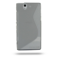 Soft Plastic Case for Sony Xperia Z L36H (Grey S Shape Pattern)