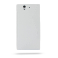 Soft Plastic Case for Sony Xperia Z L36H (White S Shape Pattern)