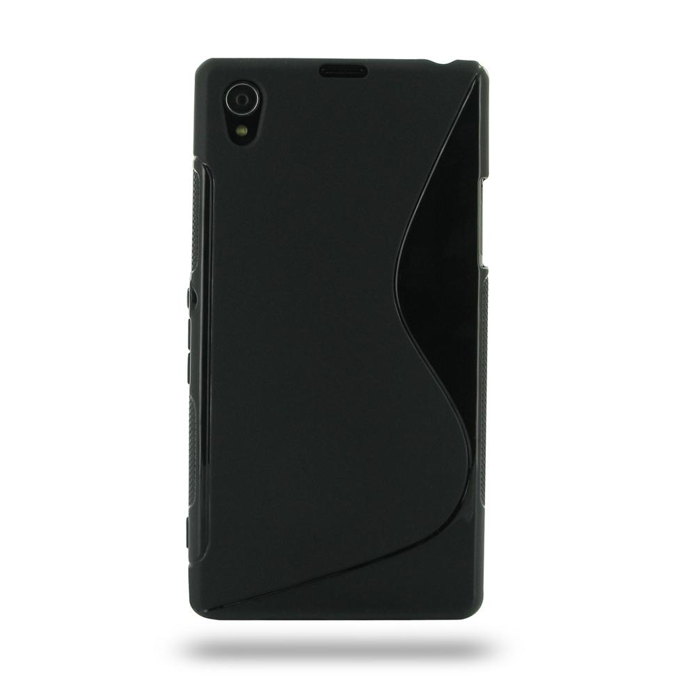 Sony Xperia Z1 Soft Case Black S Shape pattern PDairXperia Z1 Protective Case