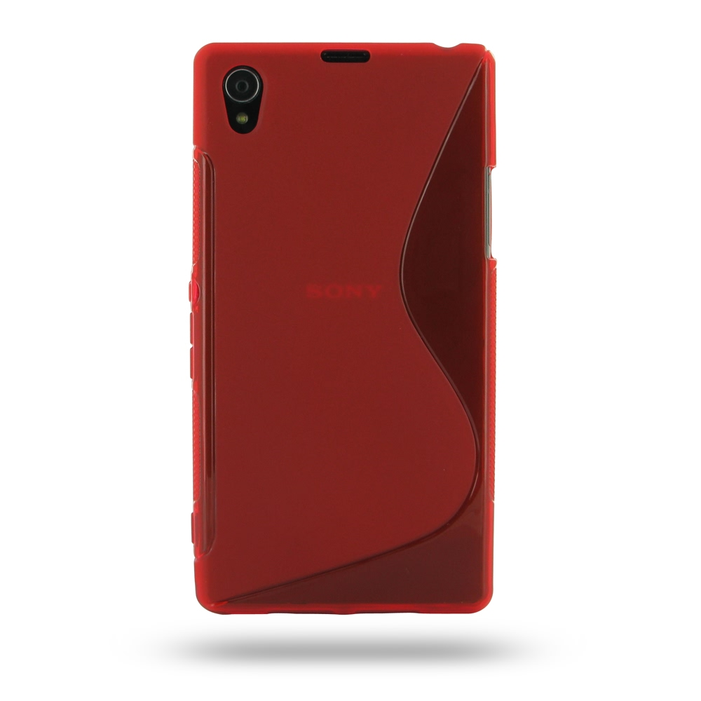 big sale 03b08 86810 Soft Plastic Case for Sony Xperia Z1 L39h (Red S Shape Pattern)