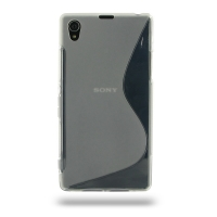 Soft Plastic Case for Sony Xperia Z1 L39h (Translucent S Shape Pattern)