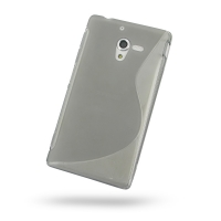 Soft Plastic Case for Sony Xperia ZL L35H (Grey S Shape Pattern)