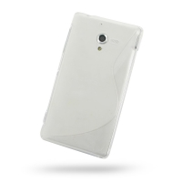 Soft Plastic Case for Sony Xperia ZL L35H (Translucent S Shape Pattern)