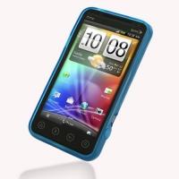 Soft Plastic Case for Sprint HTC EVO 3D PG86100 (Blue)