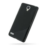 Soft Plastic Case for Xiaomi Redmi Note (Black S Shape Pattern)