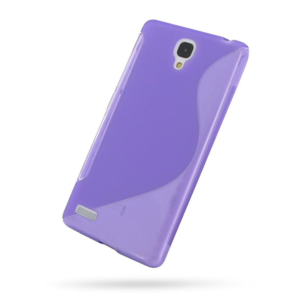 Xiaomi Redmi note Soft Case (Purple S Shape pattern) PDair Premium Hadmade Genuine Leather Protective Case Sleeve Wallet