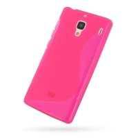 Soft Plastic Case for Xiaomi Redmi (Pink S Shape Pattern)