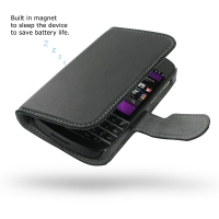 Ultra Thin Leather Book Case for BlackBerry Q10