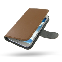 Ultra Thin Leather Book Case for Samsung Galaxy Note 2 | Samsung Galaxy Note2 | GT-N7100 (Brown)