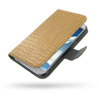Ultra Thin Leather Book Case for Samsung Galaxy Note 2 | Samsung Galaxy Note2 | GT-N7100 (Brown Crocodile Pattern)
