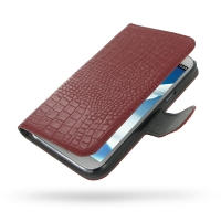 Ultra Thin Leather Book Case for Samsung Galaxy Note 2 | Samsung Galaxy Note2 | GT-N7100 (Red Crocodile Pattern)