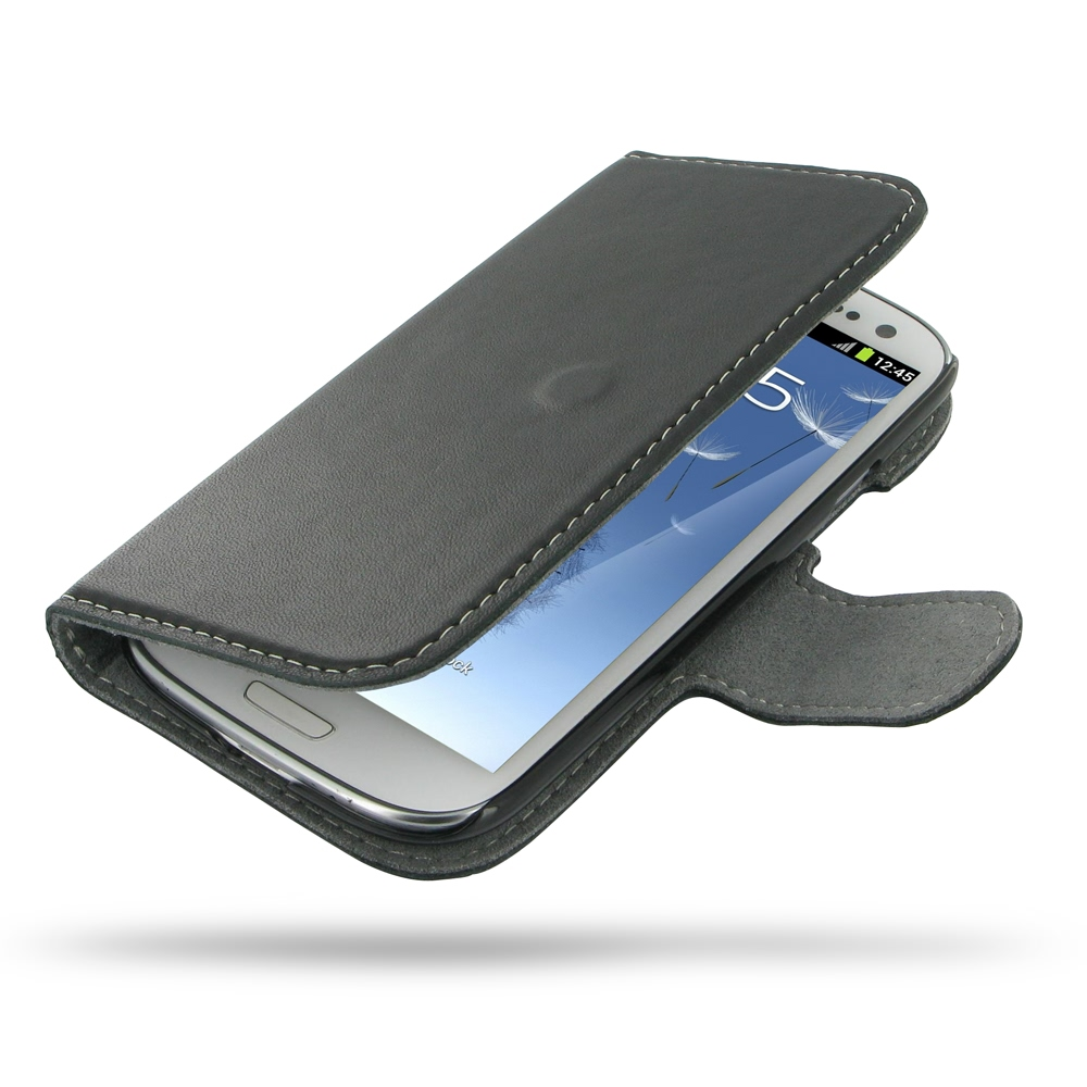 Samsung Galaxy S3 Leather Flip Cover Case Pdair Wallet Sleeve Pouch