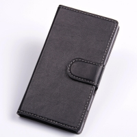 Sony Xperia C Leather Flip Cover Case PDair Premium Hadmade Genuine Leather Protective Case Sleeve Wallet