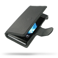 Ultra Thin Leather Book Case for Sony Xperia J ST26