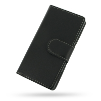 Sony Xperia M Leather Flip Cover Case PDair Premium Hadmade Genuine Leather Protective Case Sleeve Wallet