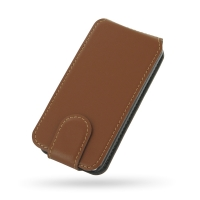 Ultra Thin Leather Flip Case for Apple iPhone 5c (Brown)