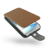 Ultra Thin Leather Flip Case for Samsung Galaxy Note 2 | Samsung Galaxy Note2 | GT-N7100 (Brown)