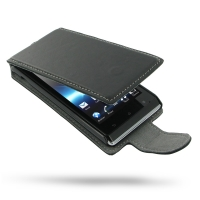 Ultra Thin Leather Flip Case for Sony Xperia J ST26