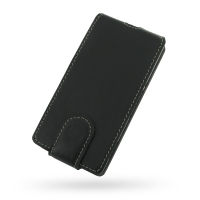 Sony Xperia M Flip Cover PDair Premium Hadmade Genuine Leather Protective Case Sleeve Wallet