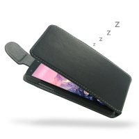 Nexus 5 Leather Flip Top Cover PDair Premium Hadmade Genuine Leather Protective Case Sleeve Wallet