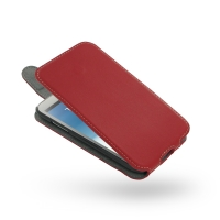 Ultra Thin Leather Flip Top Case for Samsung Galaxy Note 2 | Samsung Galaxy Note2 | GT-N7100 (Red)
