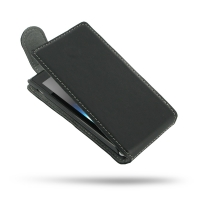 Ultra Thin Leather Flip Top Case for Sony Xperia J ST26