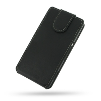 Sony Xperia M Leather Flip Top Cover PDair Premium Hadmade Genuine Leather Protective Case Sleeve Wallet