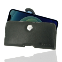 Leather Horizontal Pouch Case with Belt Clip for  Apple iPhone 12