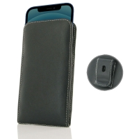 Leather Vertical Pouch Belt Clip Case for Apple iPhone 12