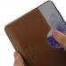 Samsung Galaxy S20 (in Slim Cover) Leather Wallet Sleeve Case (Brown) handmade leather case by PDair