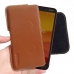 Nokia C1 Holster Pouch (Brown) Belt Case Sleeve handmade leather case by PDair