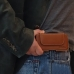 Nokia C1 Holster Pouch (Brown) Belt Case Sleeve genuine leather case by PDair