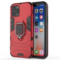 Armor Protective Case With Metal Magnetic Ring for Apple iPhone 11 Pro (Red)