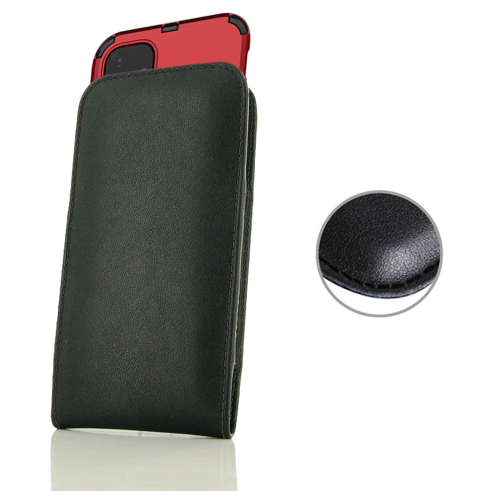 10% OFF + FREE SHIPPING, Buy the BEST PDair Handcrafted Premium Protective Carrying Apple iPhone 11 (in Large Size Cover) Pouch Case (Black Stitch). Exquisitely designed engineered for Apple iPhone 11.