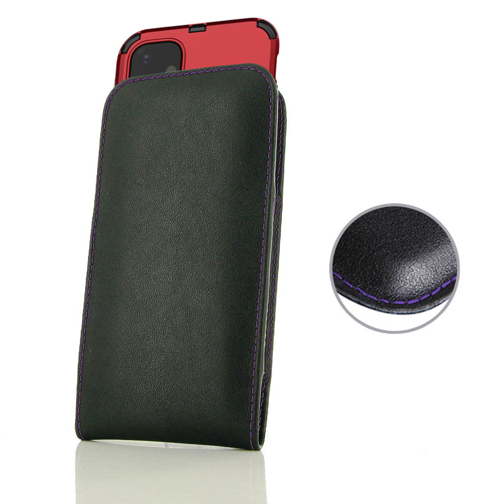 10% OFF + FREE SHIPPING, Buy the BEST PDair Handcrafted Premium Protective Carrying Apple iPhone 11 (in Large Size Cover) Pouch Case (Purple Stitch). Exquisitely designed engineered for Apple iPhone 11.