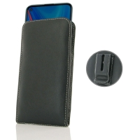 Leather Vertical Pouch Belt Clip Case for Huawei Enjoy 10