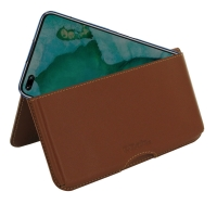 Leather Wallet Pouch for Huawei Honor V30 Pro (Brown)