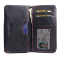 Leather Card Wallet for Huawei Nova 6 (Red Stitch)