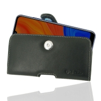 Leather Horizontal Pouch Case with Belt Clip for Huawei Y6s (2019)