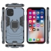 iPhone 11 Pro Max Armor Protective Case With Metal Magnetic Ring (Black) genuine leather case by PDair