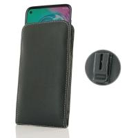 Leather Vertical Pouch Belt Clip Case for Motorola Moto G Power