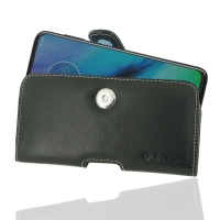 Leather Horizontal Pouch Case with Belt Clip for Motorola Moto G Stylus