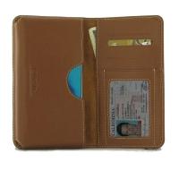 Leather Card Wallet for Motorola Moto G Stylus (Brown)