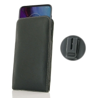 Leather Vertical Pouch Belt Clip Case for Motorola Moto G Stylus