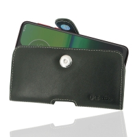 Leather Horizontal Pouch Case with Belt Clip for Motorola Moto G8 Play