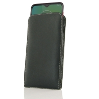 Leather Vertical Pouch Case for Motorola Moto G8 Play
