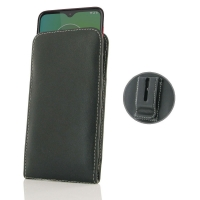 Leather Vertical Pouch Belt Clip Case for Motorola Moto G8 Play
