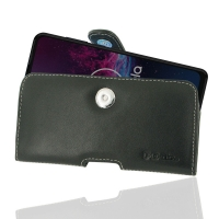 Leather Horizontal Pouch Case with Belt Clip for Motorola One Action