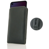 Leather Vertical Pouch Belt Clip Case for Motorola One Action