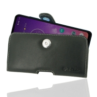 Leather Horizontal Pouch Case with Belt Clip for Motorola One Vision
